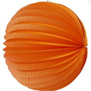 Accordion paper ball orange