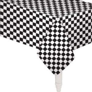 Black & white check table cover