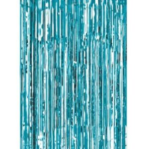 Blue foil curtain