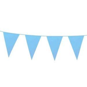 Blue glitter bunting
