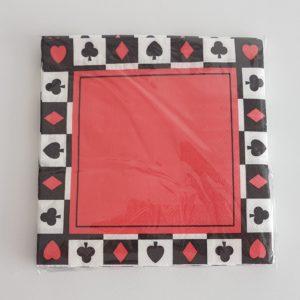 Card suit napkins