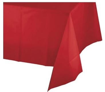 Classic red table cover
