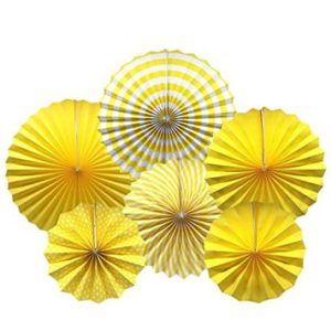 Decorating fans yellow