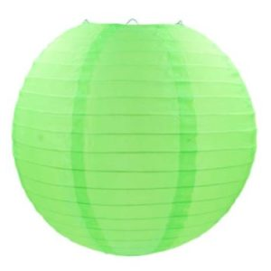 Green fabric lantern