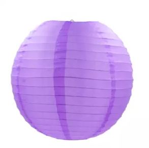 Purple fabric lantern