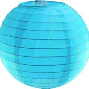 Blue fabric lantern