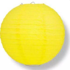 Yellow fabric lantern