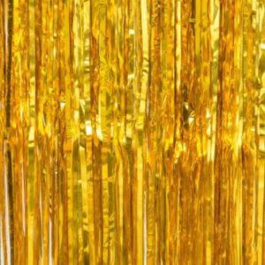 Gold foil curtain