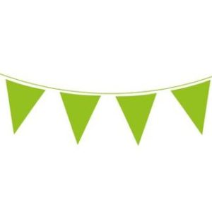 Lime green pennant banner