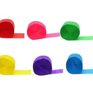 Pack of 6 streamers
