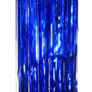 Royal blue foil curtain