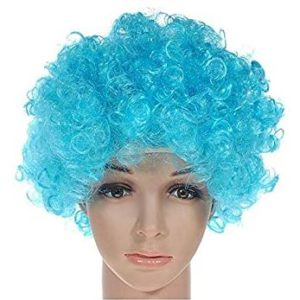 Turquoise clown wig