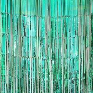 Turquoise foil curtain