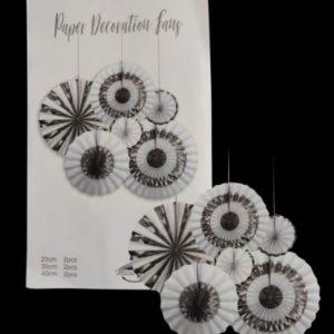 Silver & white decorations