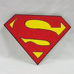 Poly Superman sign