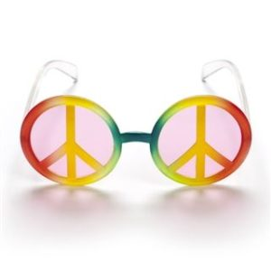 Peace sign glasses