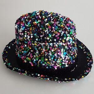 Multi-color sequin top hat